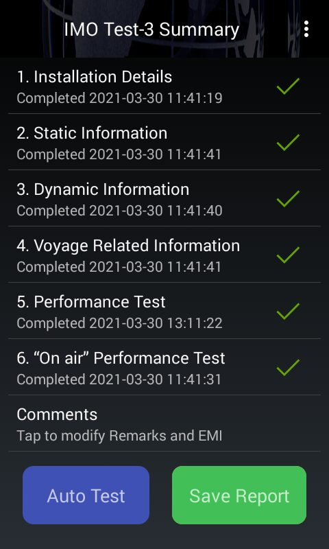 AIS Testing BT200